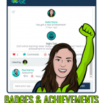 badge award slider image with text