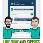 live chat Slider image with text