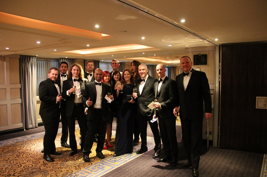 Champagne reception at London Marriott