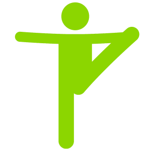 Person stretching pulling leg up
