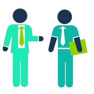 Men handshake business