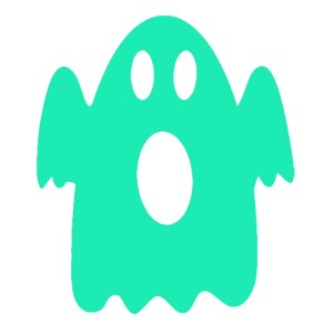 Scary ghost green