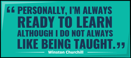 churchill learning quote