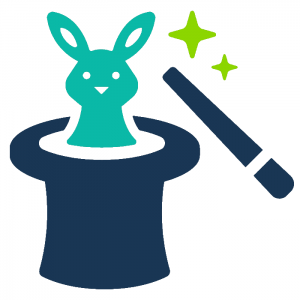 Magic rabbit out of a hat