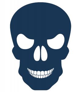 Scary menacing skeleton