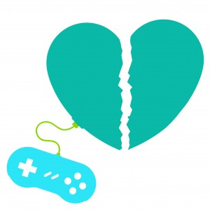 Broken heart gamer