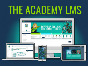academy learning management system page feat