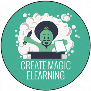 Genie Create magic elearning badge