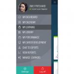 LMS mobile app home profile sq