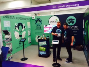 Growth Engineering's stand at Learning Technologies 2015