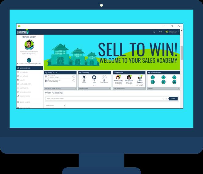 sales academy on desktop