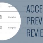 access previous reviews