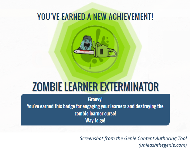 badge awarded in learning game