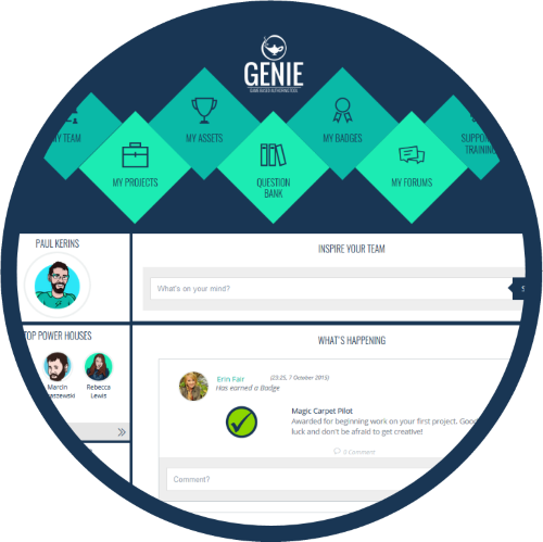 genie dashboard circle