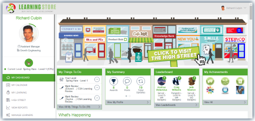 learning store dashboard