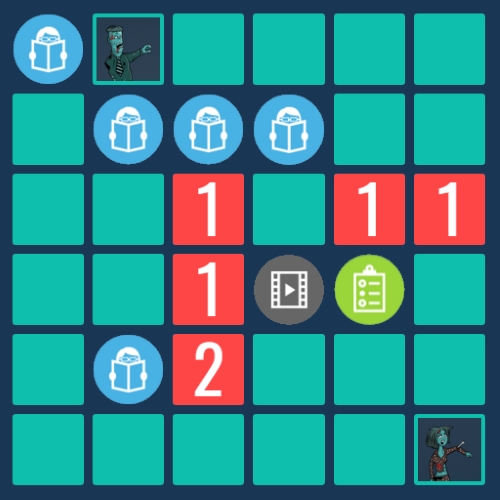 learning game with tiles