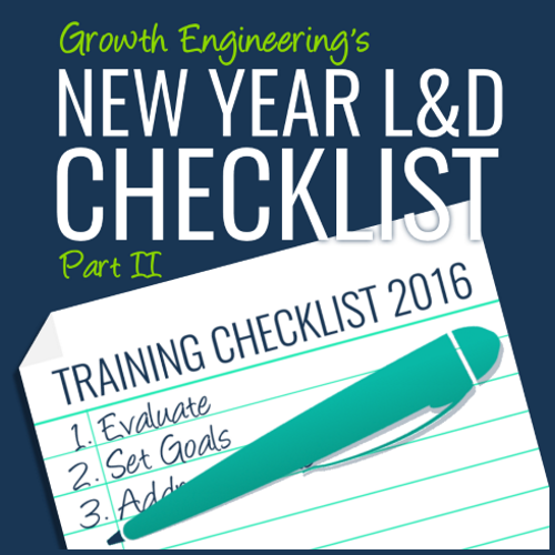new year learning and development checklist part 2
