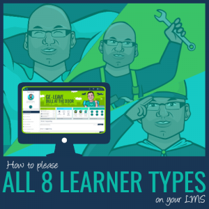please eight learner types on learning platform