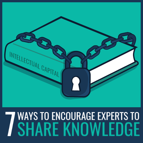 ways to encourage experts to share knowledge