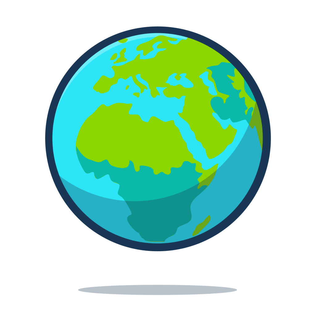 The earth as a globe.