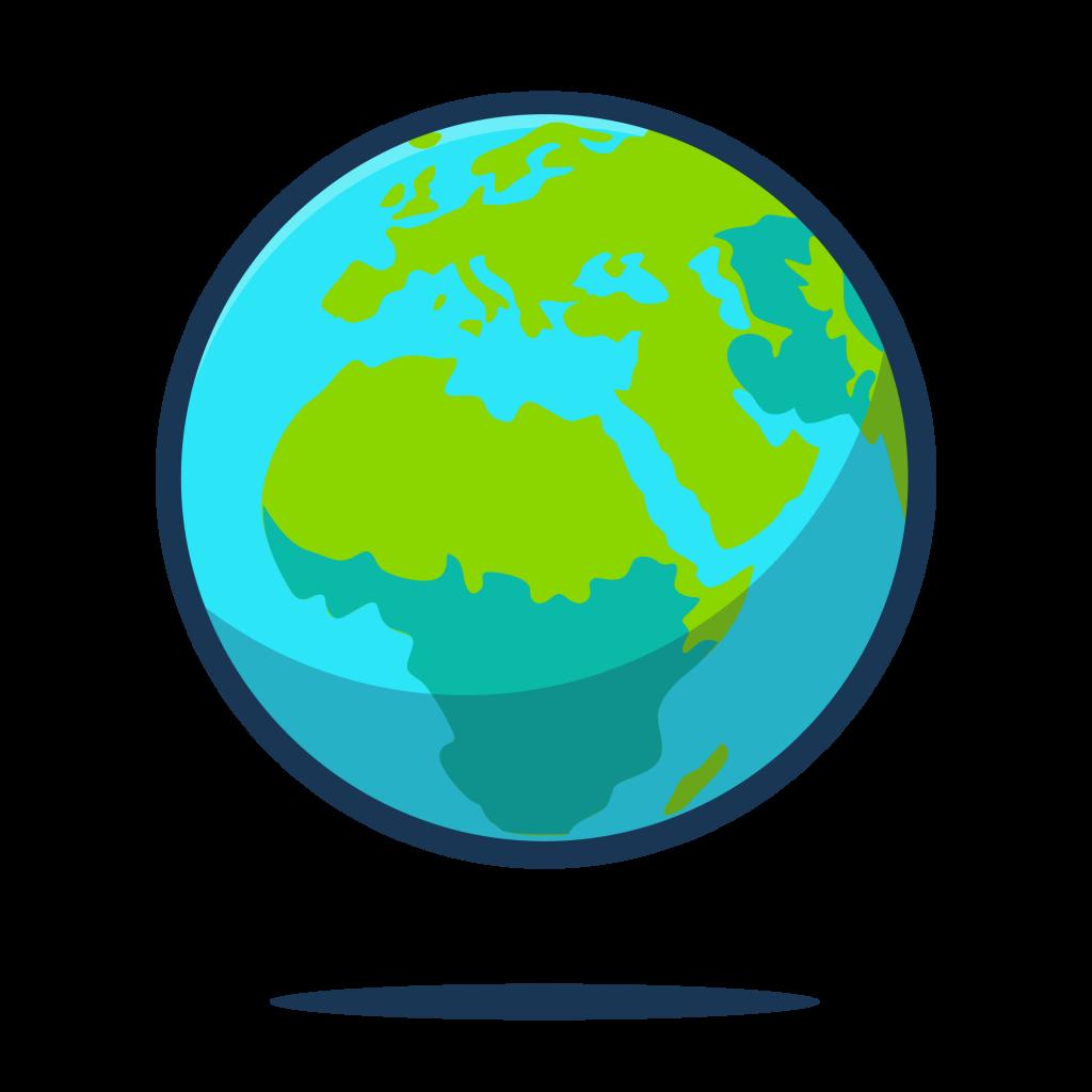 The earth as a globe.