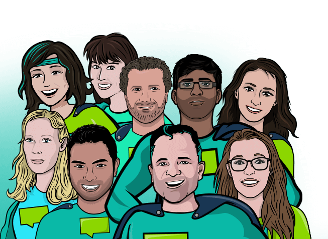 group of superheroes from growth engineering