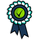 A rosette which has been awarded for GDPR compliance.