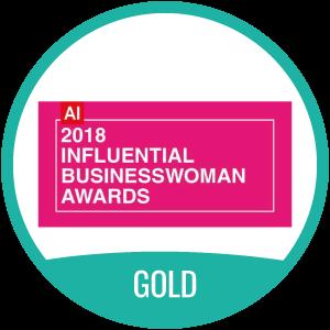 2018 Influential Businesswoman Award Gold