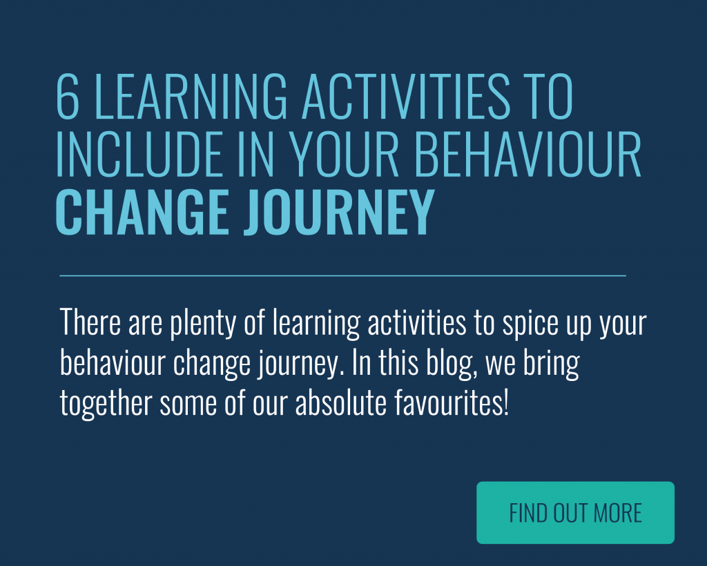 Learning Activities for Behaviour Change