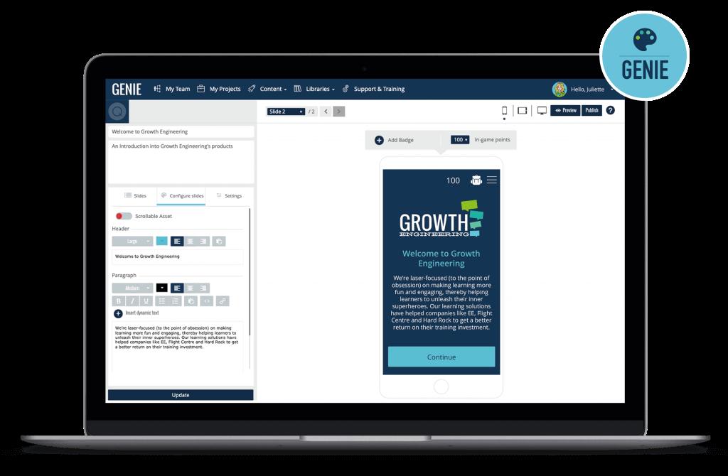 Genie Content Authoring Tool