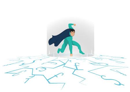 Superhero Business Impact Illustration