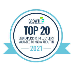 Badge for Top 20 L&D Experts and Influencers