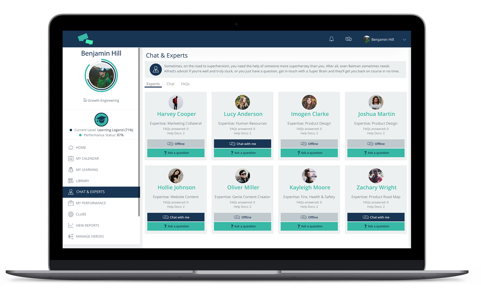 Take advantage of your SMEs by adding Experts Area into your LMS