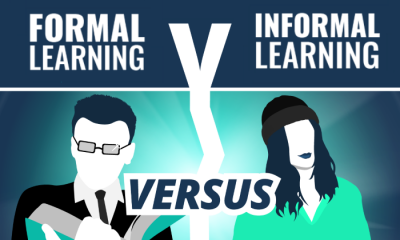 formal v informal learning infographic portfolio