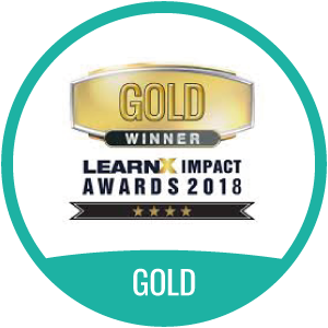 LearnX Impact Awards 2018 Gold